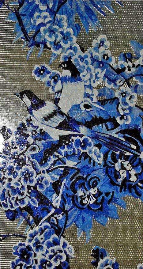 Mosaic Artwork Roaming Birds Pic