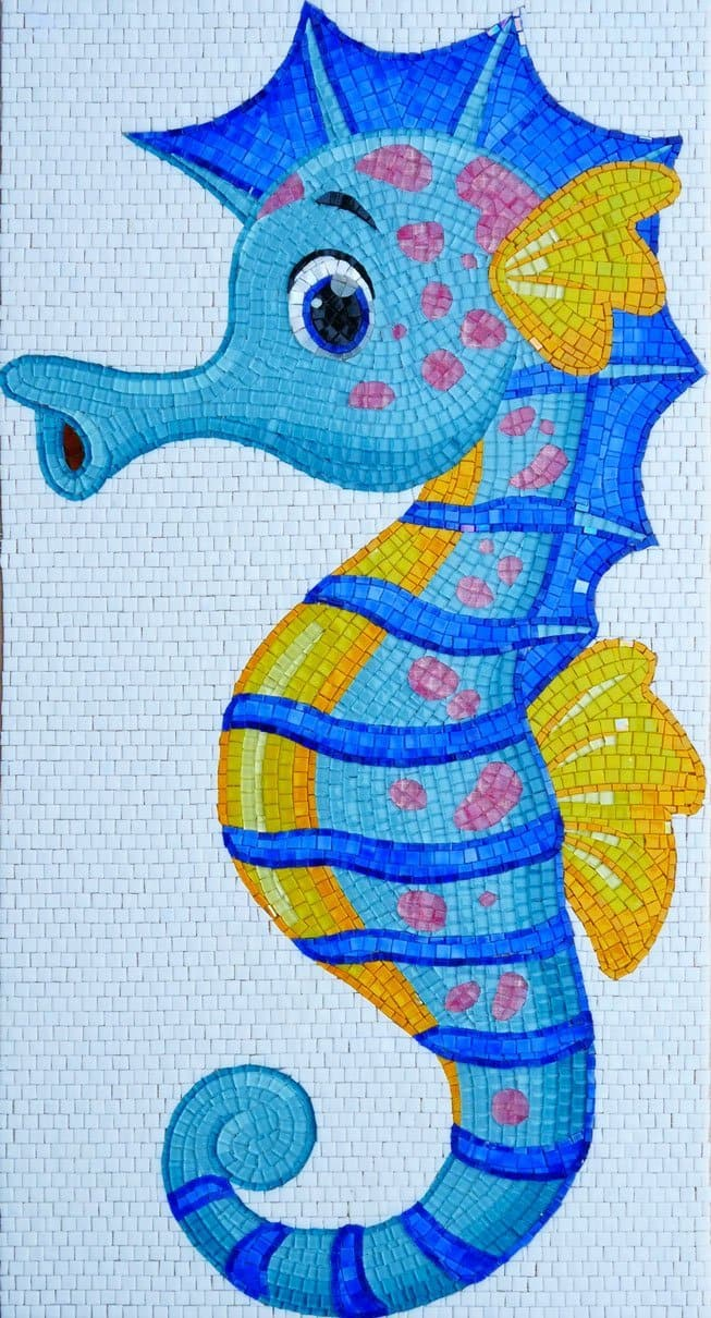 Bubbly The Seahorse Comic Mosaic Pic