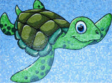 Terry the Turtle - Comic Mosaic