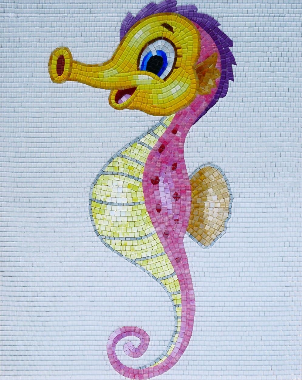 Gregory The Seahorse Comic Mosaic Pic