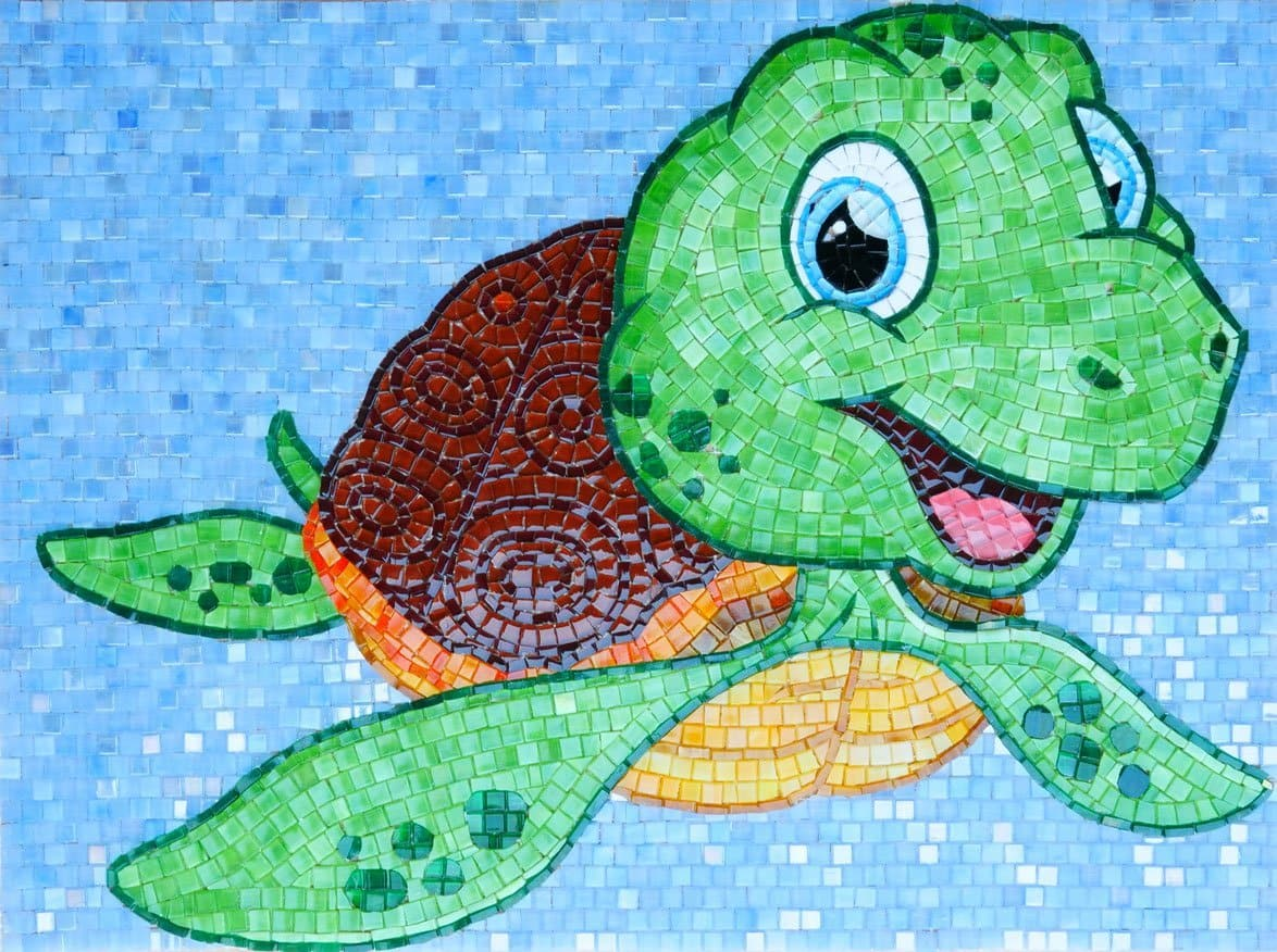 Squirt the Turtle - Comic Mosaic