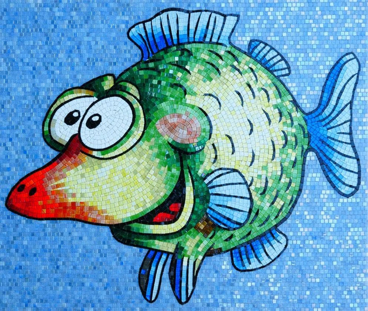Grinch the Fish - Comic Mosaic