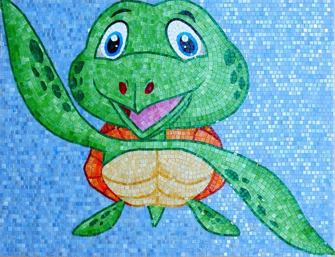 Trippy The Turtle Comic Mosaic Pic