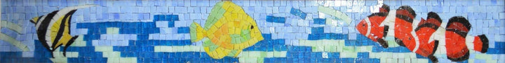 Fish Border Glass Mosaic