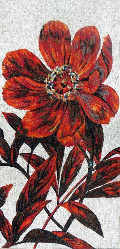 Mosaic Art Cherry Flower Pic
