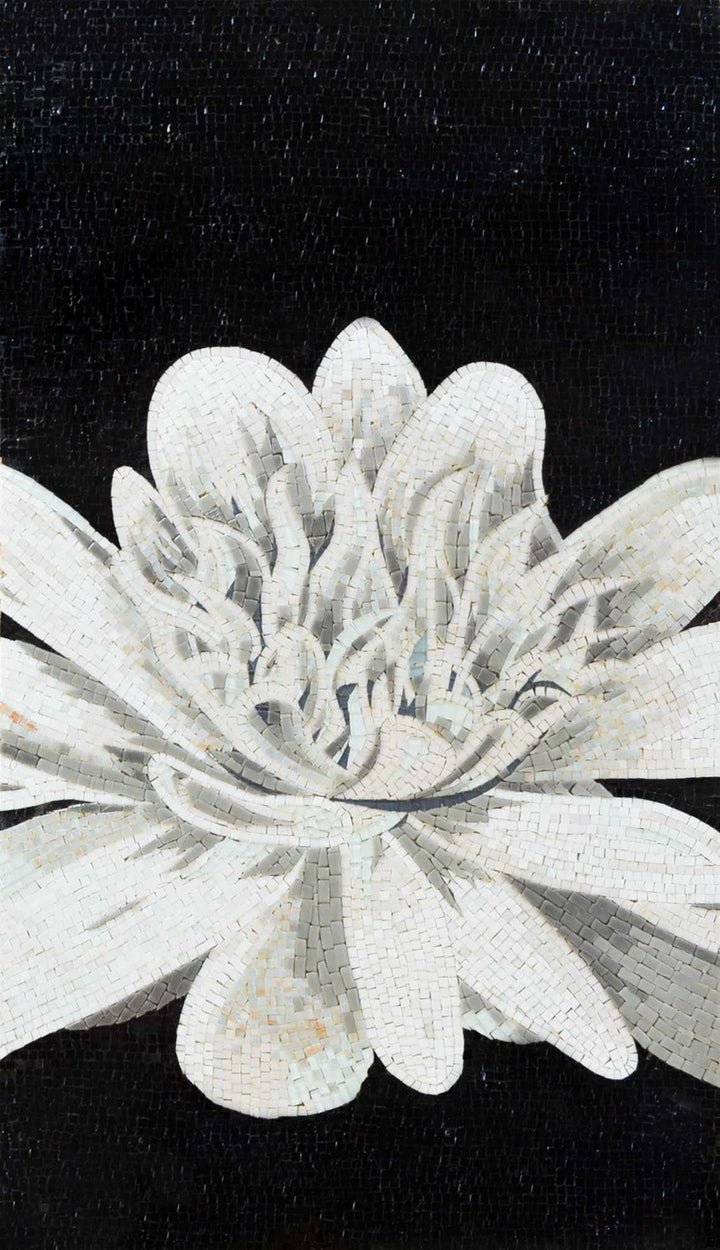 Mosaic Wall Art - The White Lotus