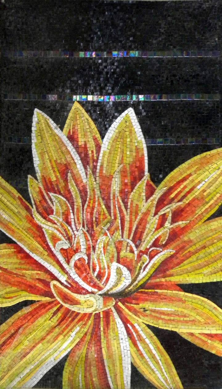 Mosaic Wall Art - Lotus Flower