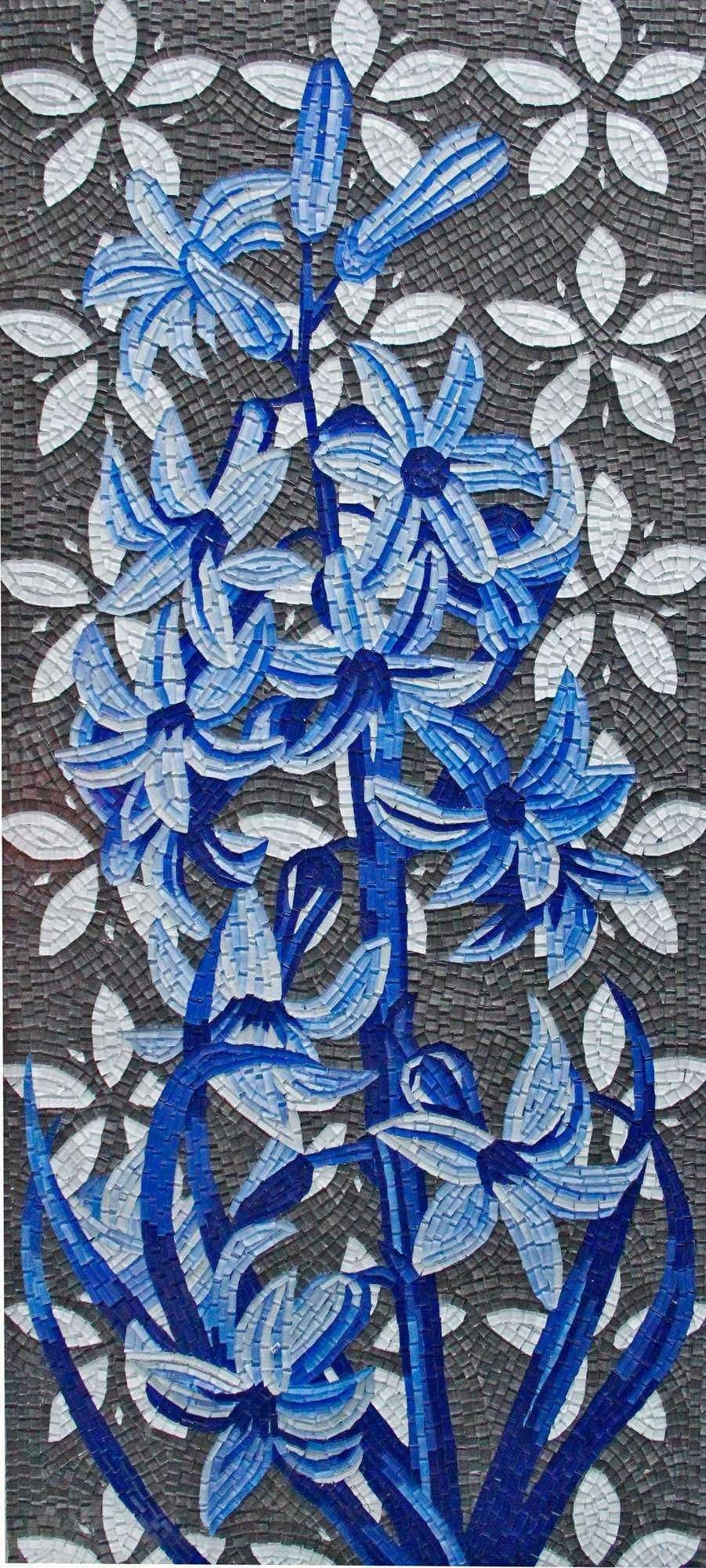 Floral Mosaic Design - Touch Of Blue