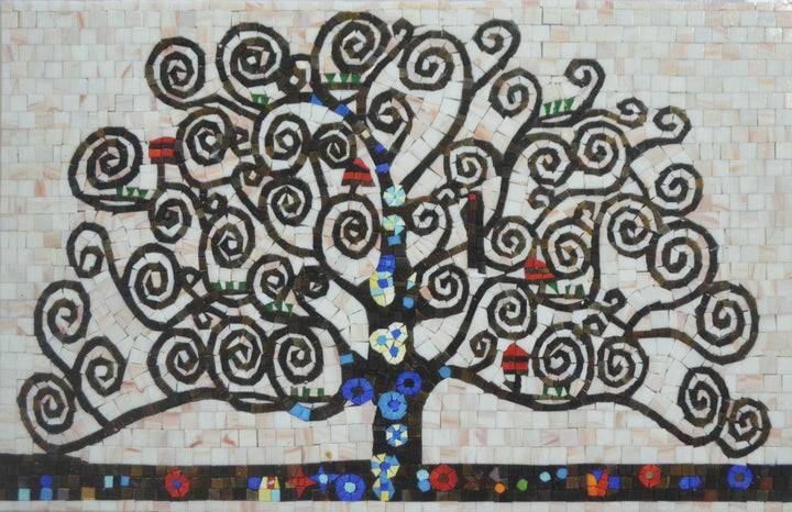 Mosaic Art -Tree Of Life Spirals II