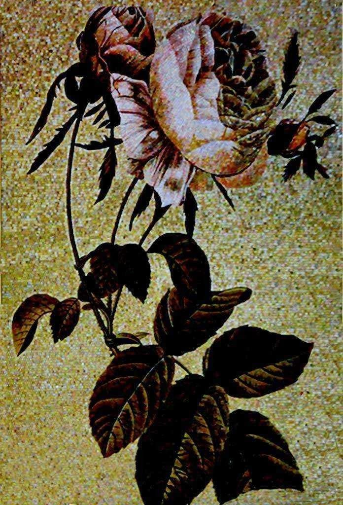 Mosaic Wall Art Lonely Flower Pic