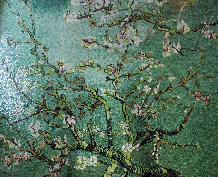 Mosaic Tile Art - Green Tree