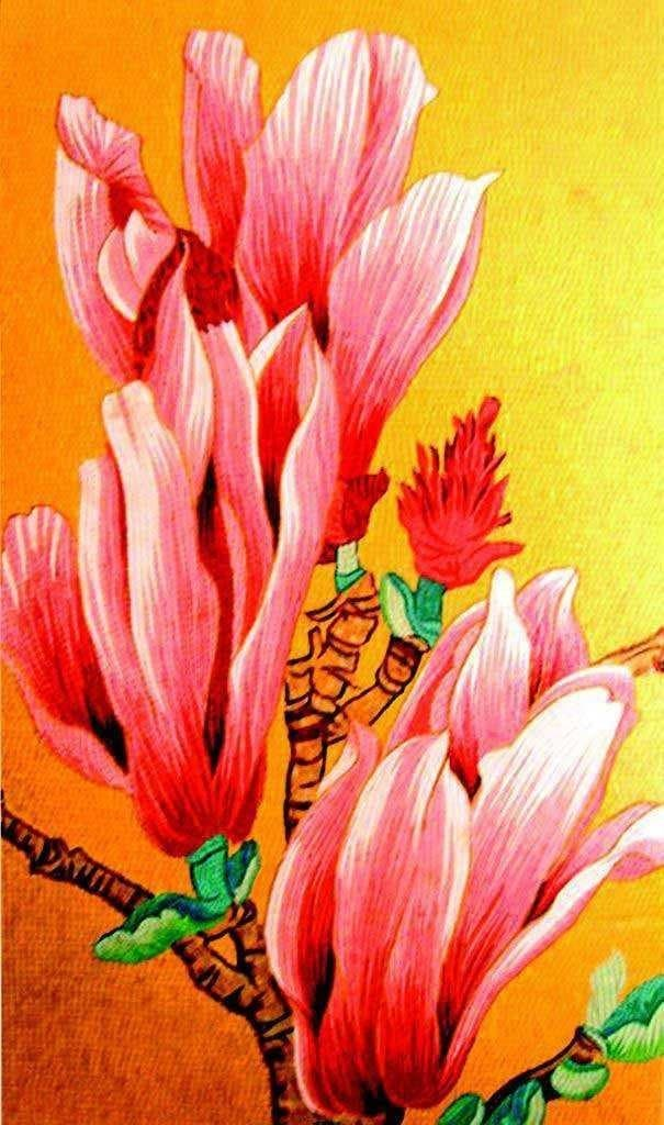 Mosaic Art For Sale Pink Astras Pic
