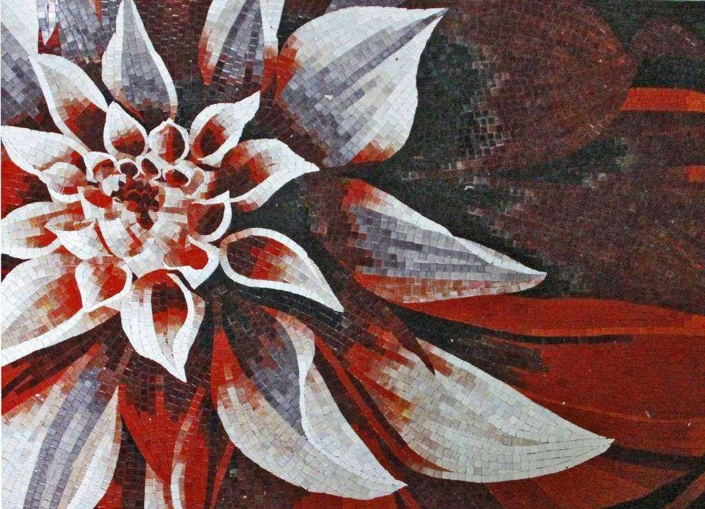Artistic Mosaic Artwork - Blood Flower