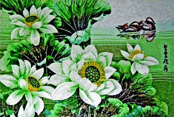 Glass Mosaic Art - Garden Of Greens