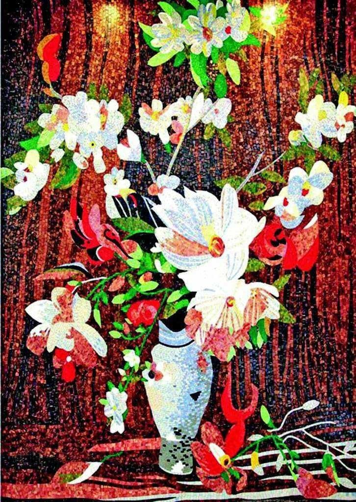 Mosaic Art For Sale Vase Of Beauty Pic