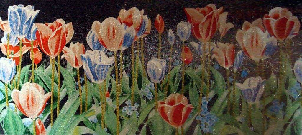 Mosaic Designs Garden Of Tulips Pic