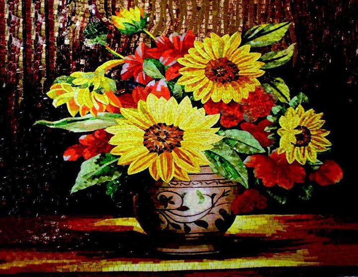 Flower Mosaic Art - Sunflowers