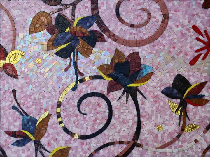 Mosaic Art - Autumn Flowers