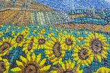 Sunflower Field Van Gogh Reproduction - Glass Mosaic Art