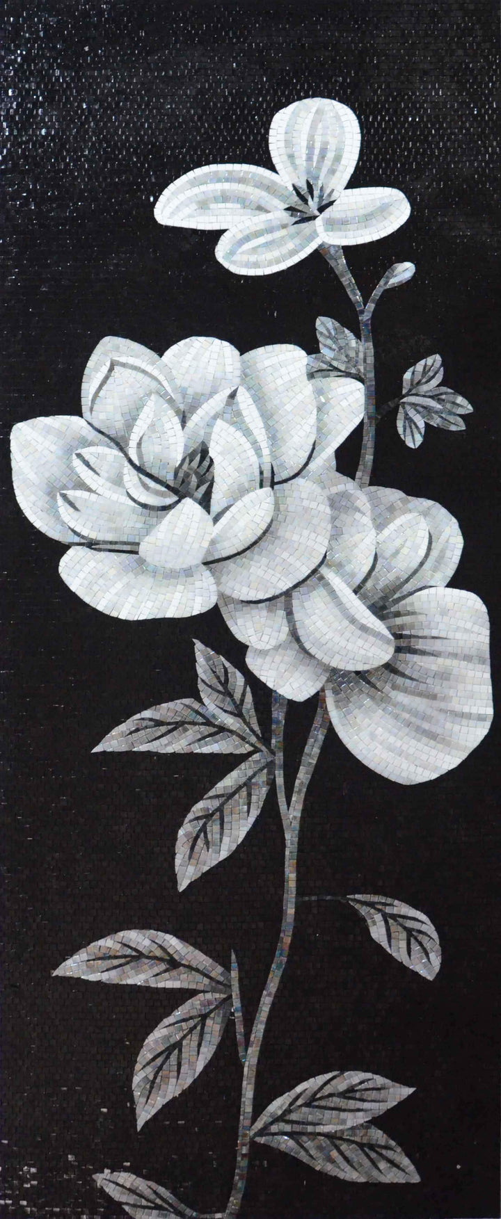 Monochrome Flower - Mosaic Art