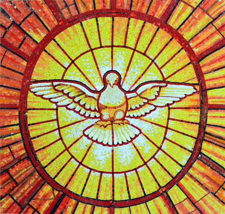 St. Peter Basilica Dove Glass Mosaic