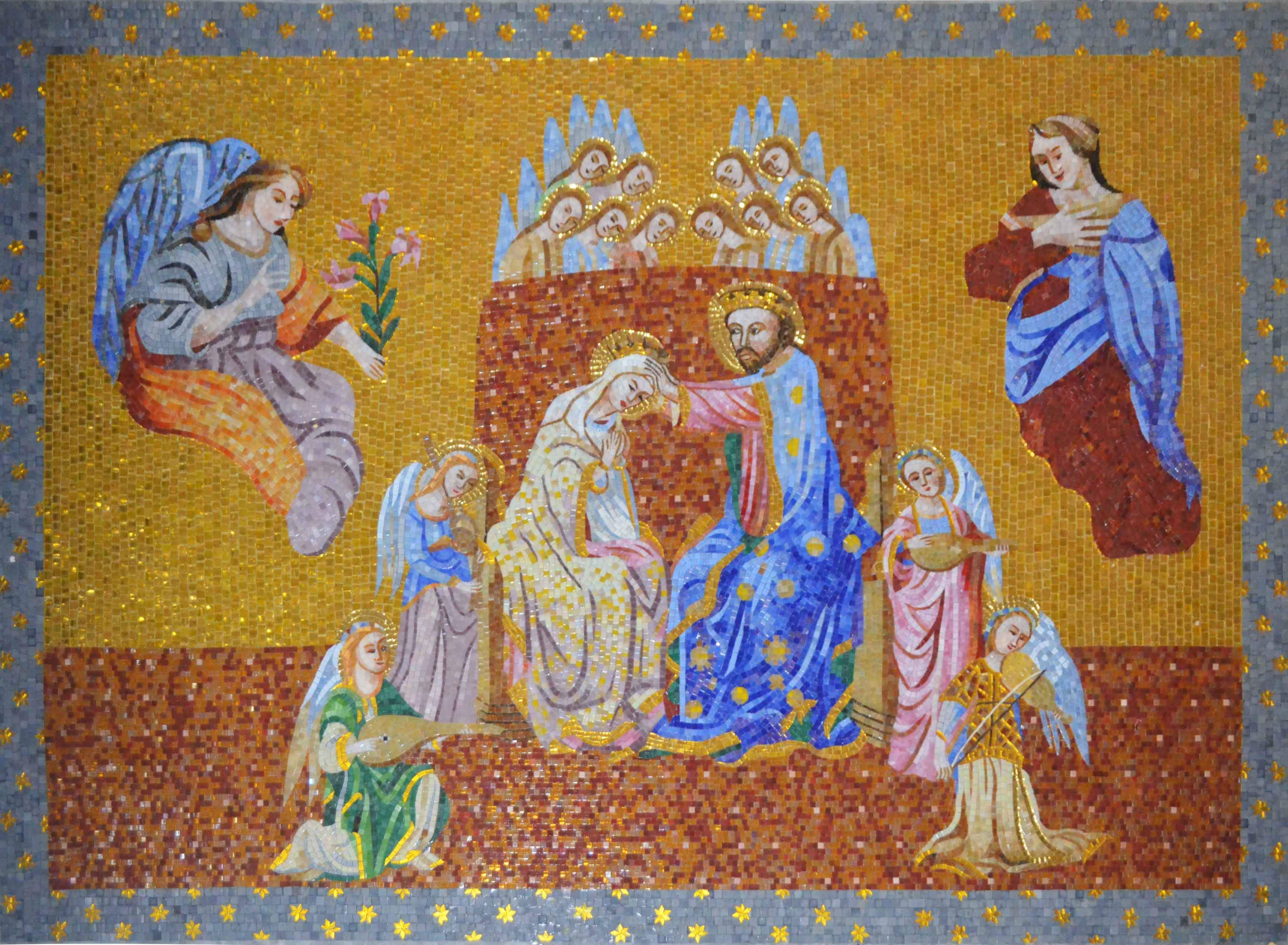 Coronation Of The Virgin Mosaic Art Reproduction Pic