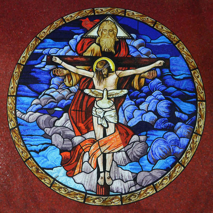 The Holy Trinity Glass Mosaic Artwork