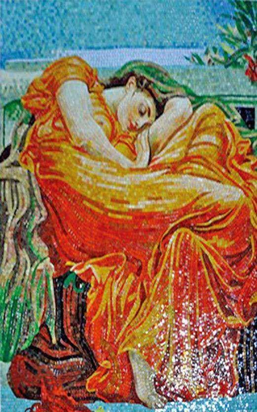 Frederic Leighton Flaming June Mosaic Reproduction Pic