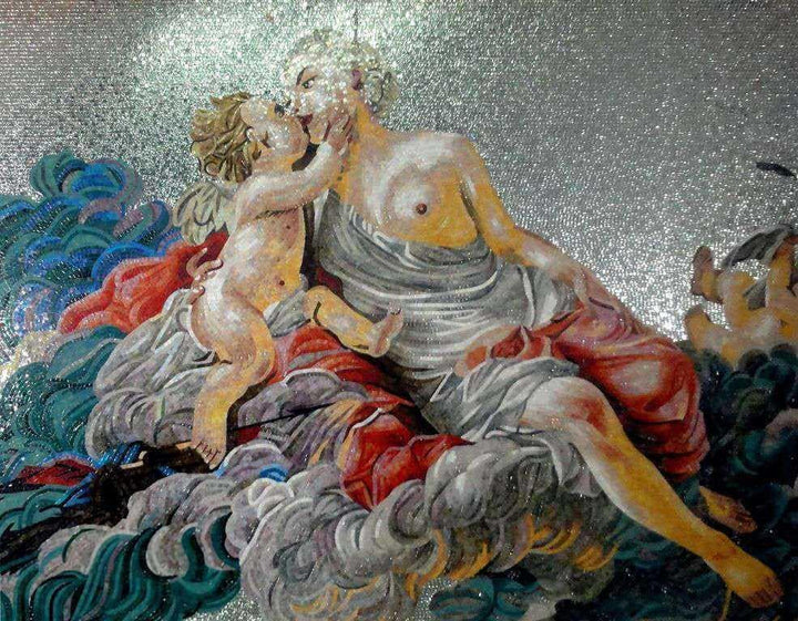 Mosaic Art - Cupid and Psyche