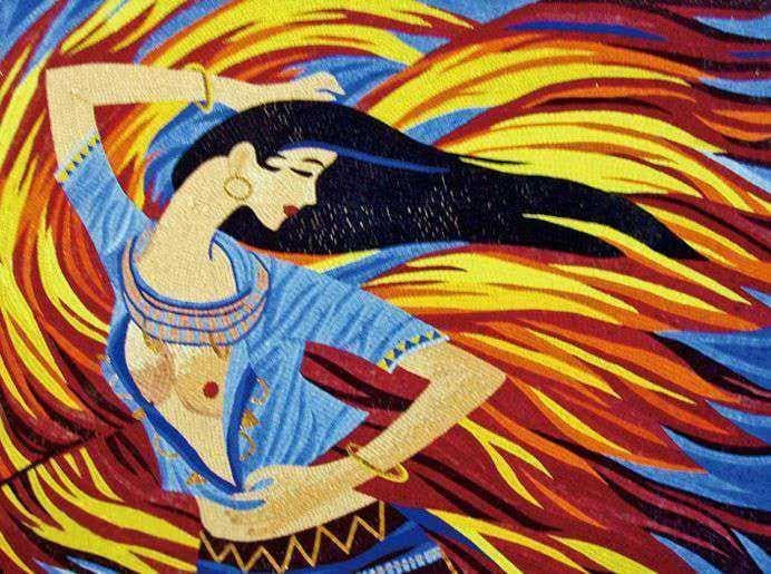 Mosaic Art Princess Jasmine From Aladdin Pic