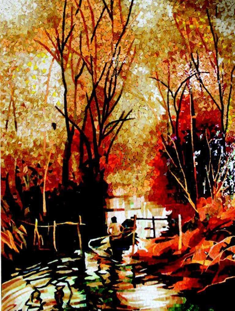 Sweltering Warmth Autumn Mosaic Art Pic
