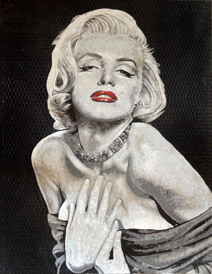 Marilyn Monroe Glass Mosaic Handmade Art Wall