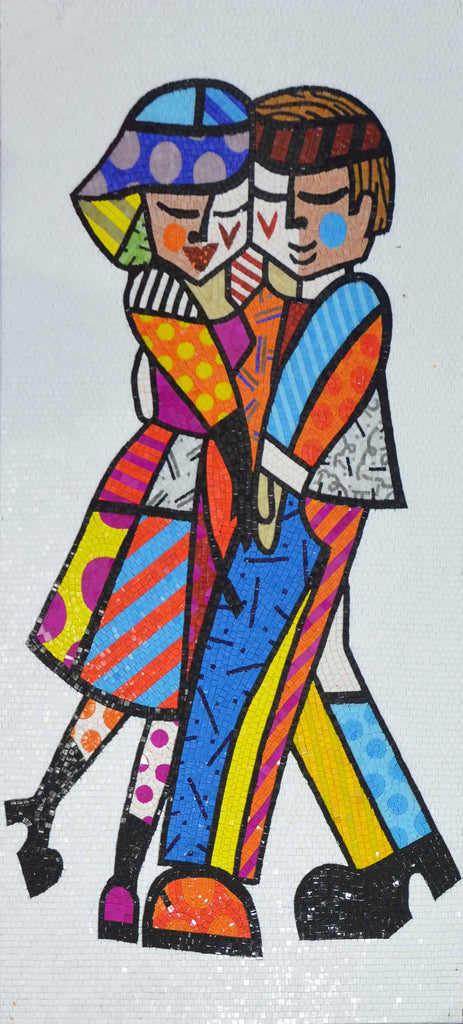 Funky Love Glass Mosaic Artwork