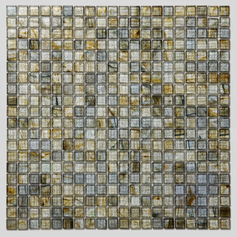 Mosaic Glass Sheet- Silver and Gold
