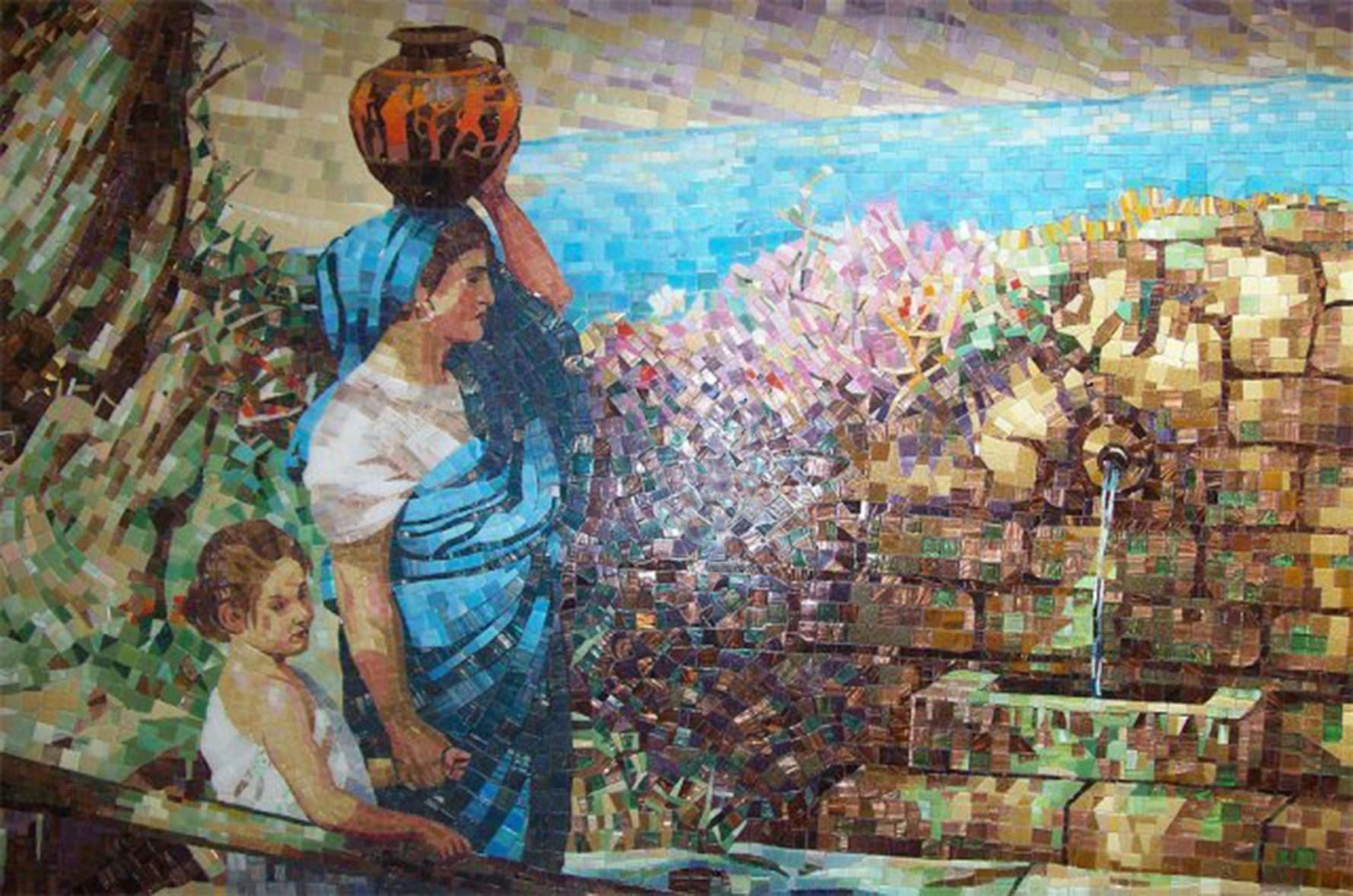 Mother And Child Mosaic Pic