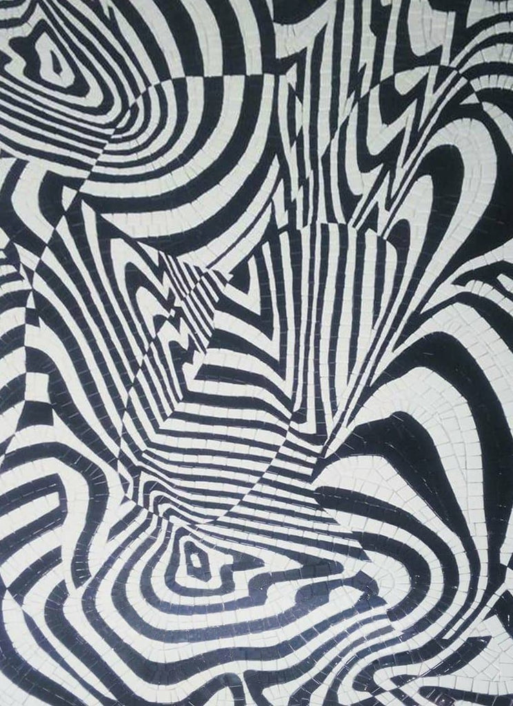 Zebra's Illusion - Abstract Mosaic Pattern