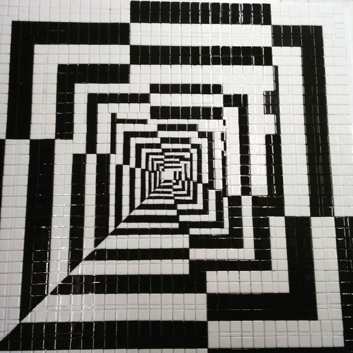 The Hallway Illusion - Abstract Mosaic Art