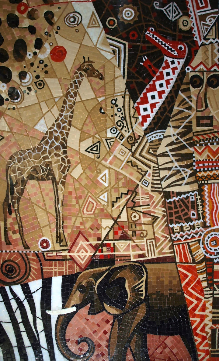 African Wilderness - Abstract Mosaic Artwork