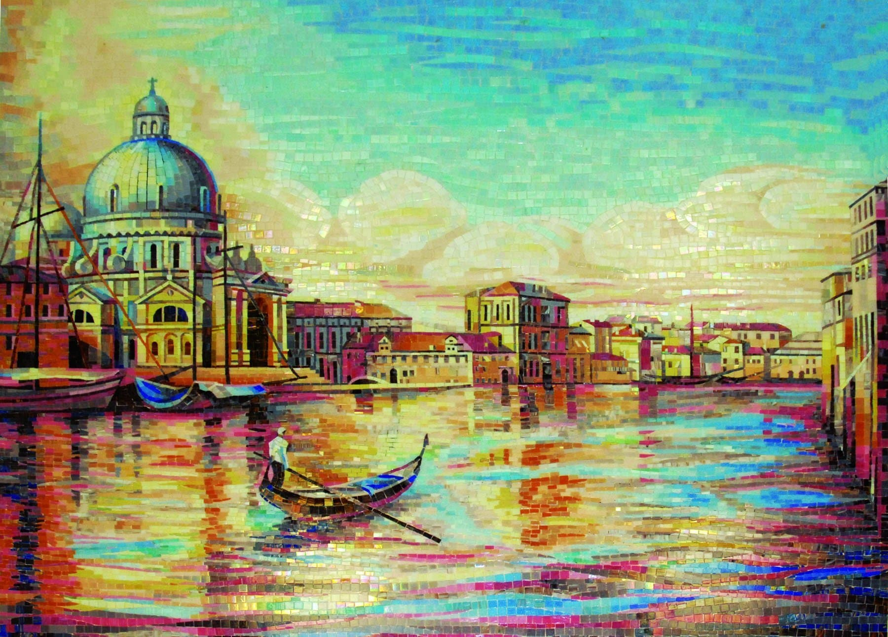 Mosaic Design Morning In Venice Pic