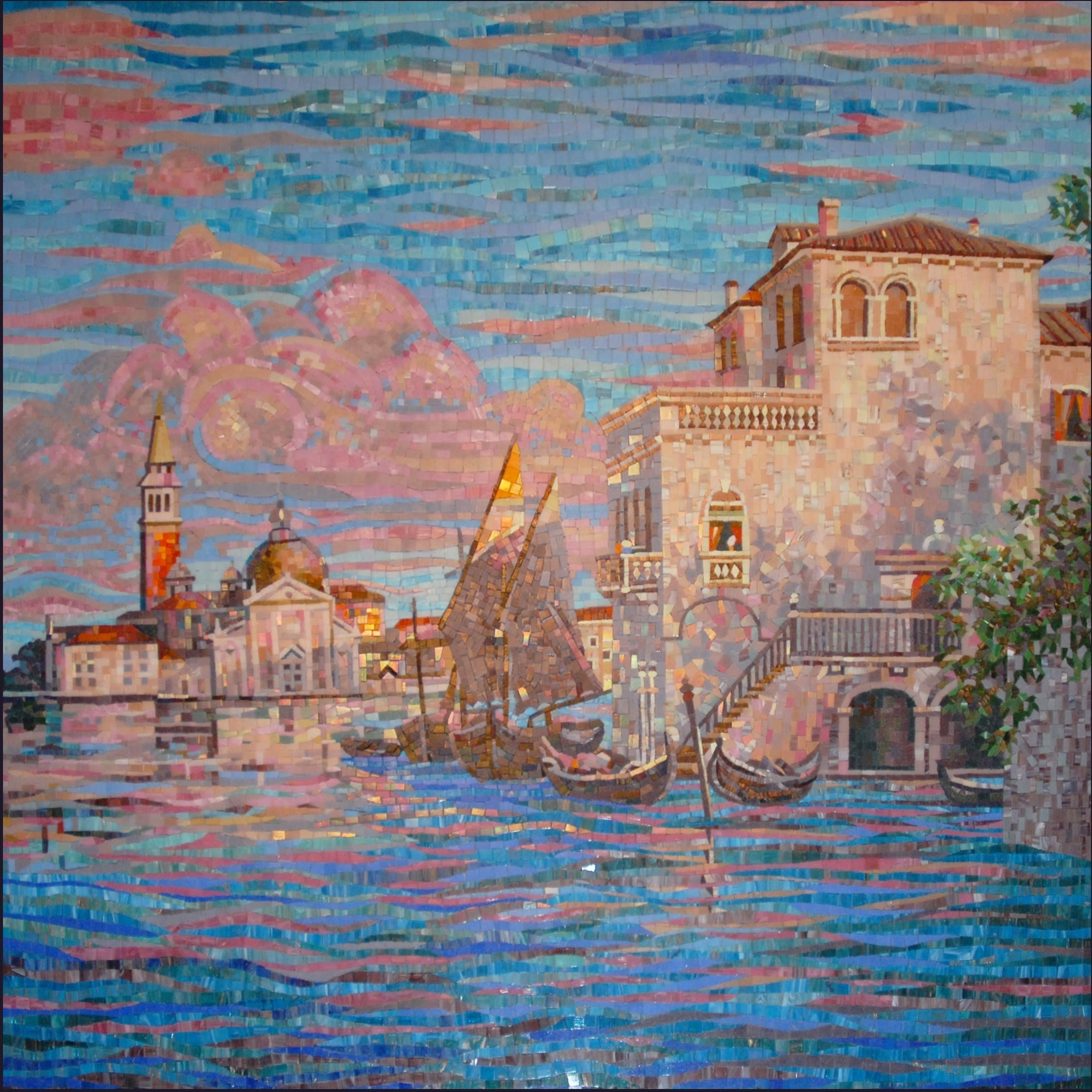 Mosaic Design Scenes From A Venetian Canal Pic