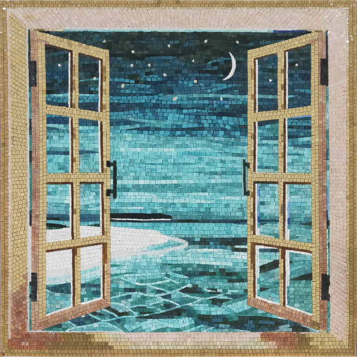 Ocean's Night View - Glass Mosaic | Scenery | Mozaico
