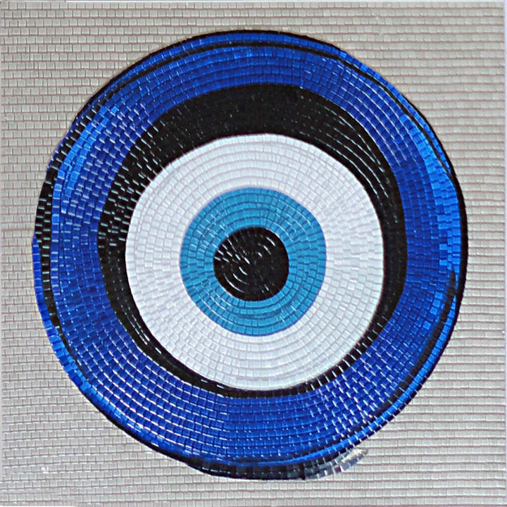 Evil Eye Glass Mosaic Artwork