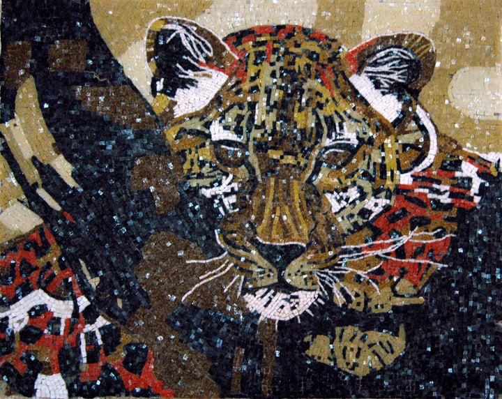 Figurative Glass Mosaic - The Tiger