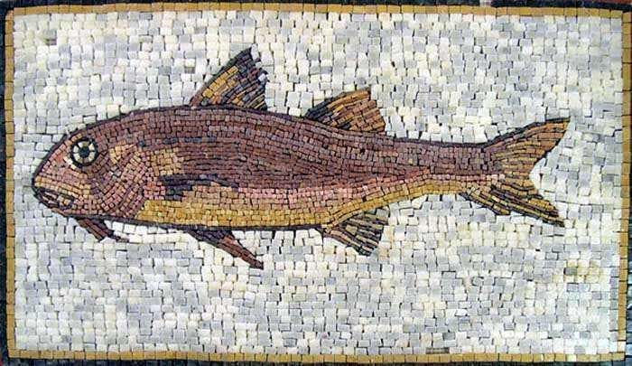 Fish Mosaic Brown