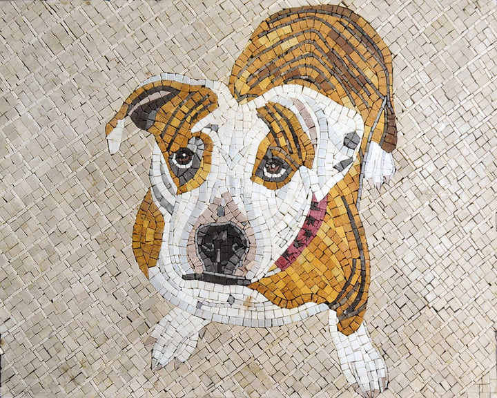 Marble Mosaic Mural - Pet Dog