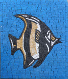 Black and Yellow Angel Fish - Mosaic Art