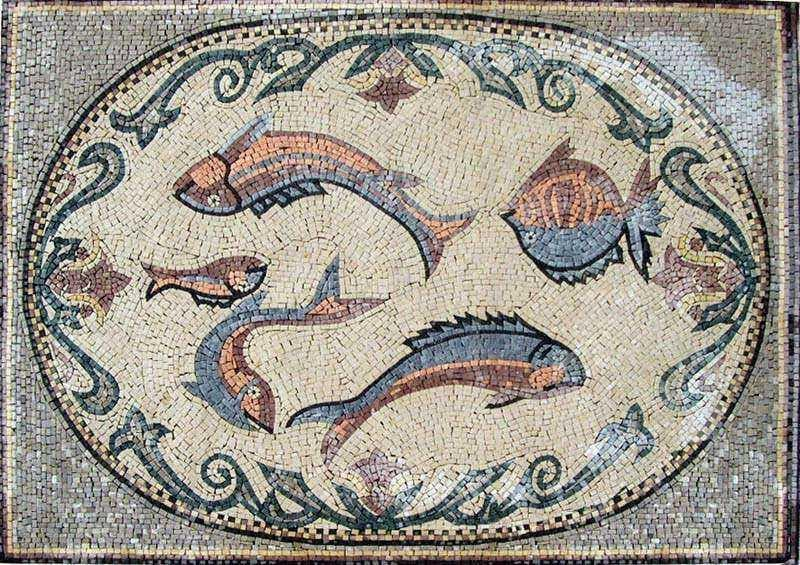 Multiple Fish Mosaic Pic