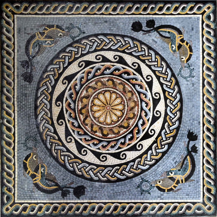 Nautical Design Mosaic Stone Art