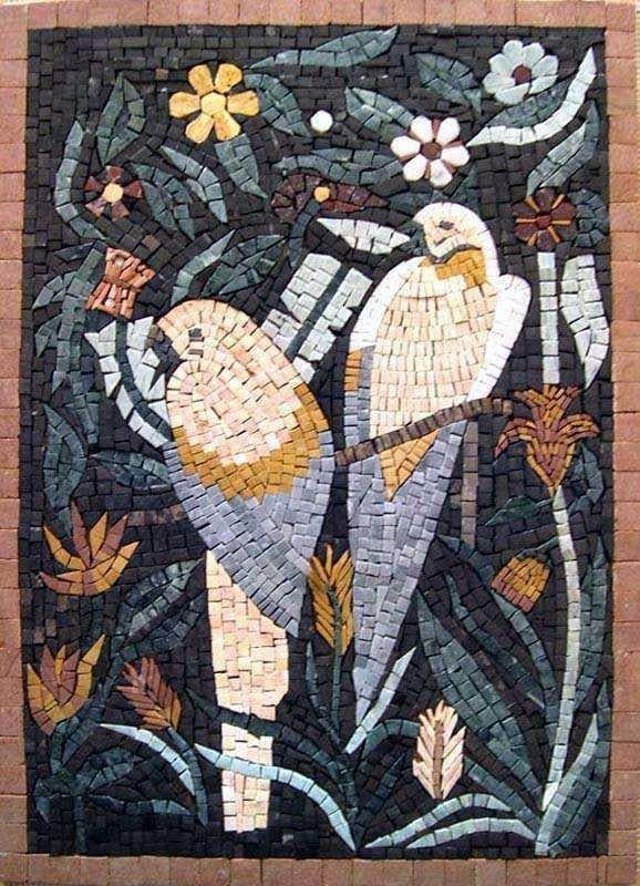 Contemporary Mosaic Art - Figurative  Parrots