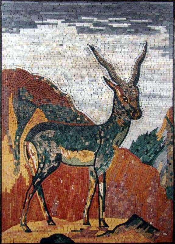 Mosaic Marble Art - Young Deer